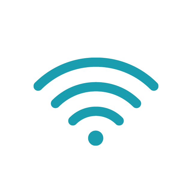 Wireless teal icon